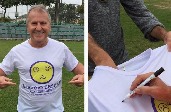 Campanha do Alzheimerebook recebe o apoio de Zico