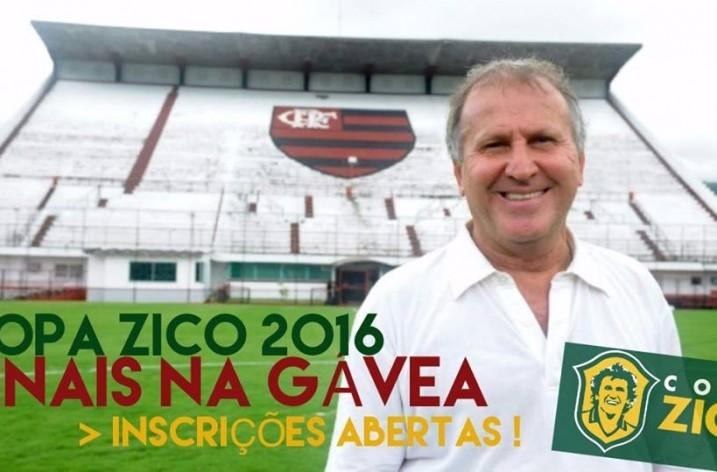 Estão abertas as inscrições para a Copa Zico 2016