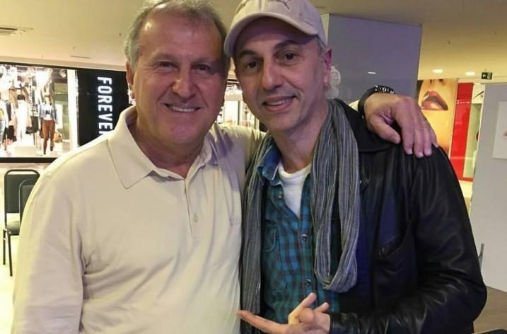 Zico se encontra com Zeca Baleiro na Rádio Mix