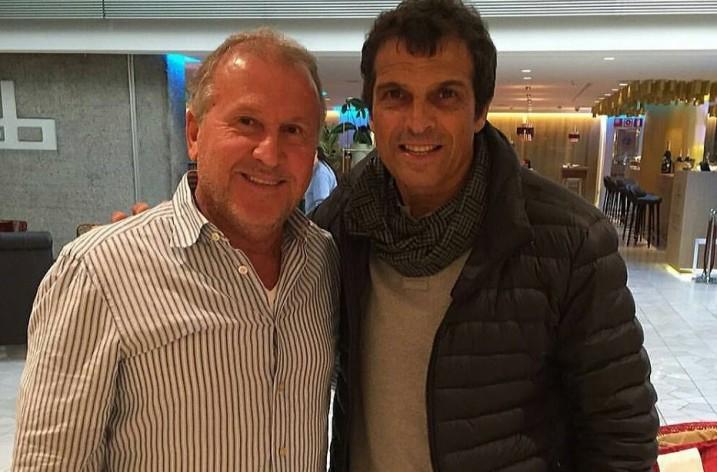 Em Madri, Zico se encontra com Milton Cruz, ex-companheiro de Kashima