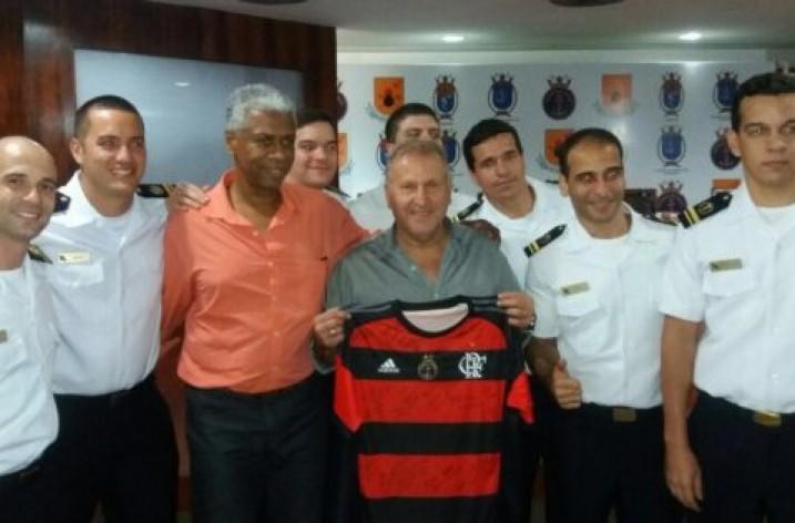 Zico dá o Pontapé inicial nas novas instalações do CEFAN