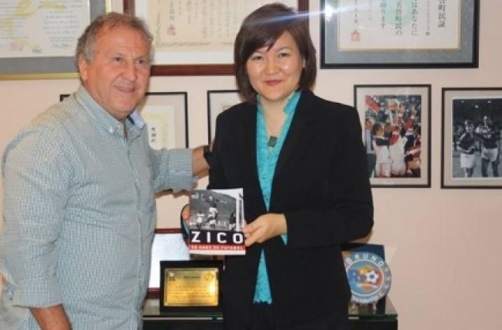 Galinho recebe embaixadora da Mongólia no CFZ
